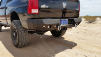 2010-2019 Dodge 2500/3500/4500 Rear Base Bumper With Sensor Holes - Iron Bull Bumpers