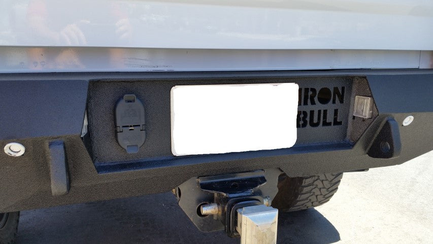 2015-2021 GMC 2500/3500 Rear Base Bumper Without Sensor Holes - Iron Bull Bumpers