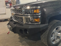 2014-2015 Chevrolet 1500 Front Base Bumper With Sensor Holes - Iron Bull Bumpers