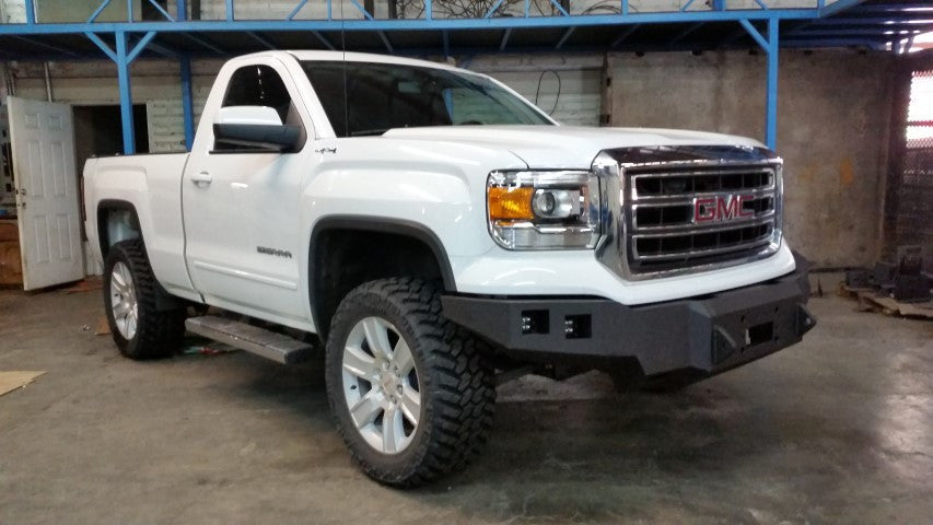 2014-2015 GMC 1500 Front Base Bumper With Sensor Holes