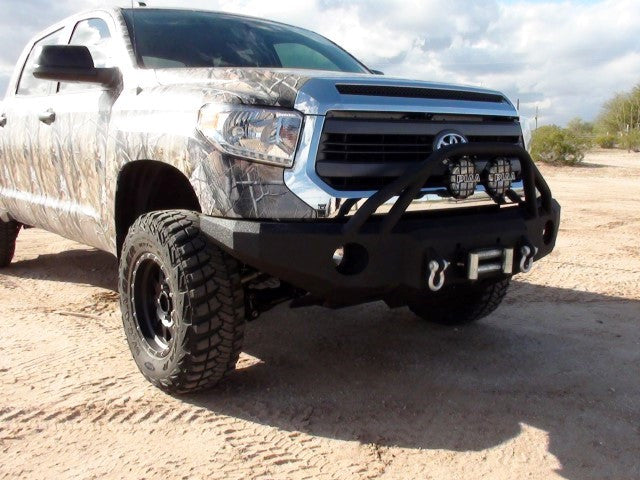 2014-2020 Toyota Tundra Front Base Bumper With Sensor Holes - Iron Bull Bumpers
