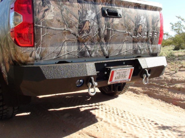 2014-2020 Toyota Tundra Rear Base Bumper Without Sensor Holes - Iron Bull Bumpers