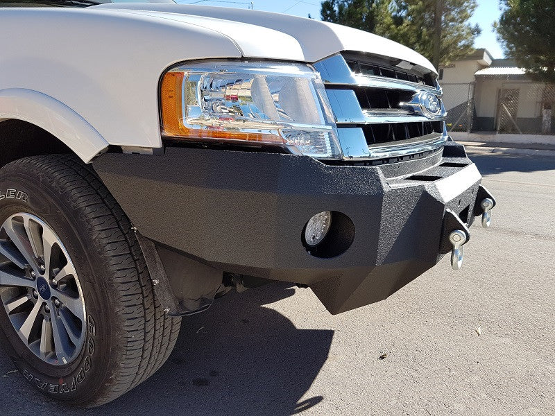 2015-2017 Ford Expedition Front Base Bumper With Sensor Holes - Iron Bull Bumpers