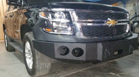 2015-2021 Chevrolet Tahoe/Suburban Front Base Bumper - Iron Bull Bumpers - FRONT IRON BUMPER - Metal bumper for heavy duty trucks Perfect for CITY/OFF-ROAD applications with Light Buckets and Winch Mount included