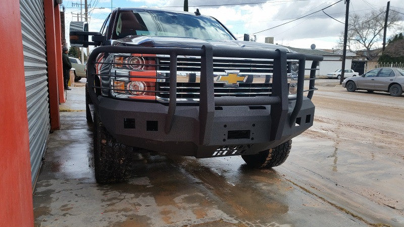 2015-2020 Chevrolet 2500/3500 Front Base Bumper - Iron Bull Bumpers