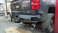 2014-2021 Chevrolet 1500 Rear Base Bumper Without Sensor Holes - Iron Bull Bumpers