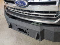 2018-2022 Ford F-150 Front Base Bumper - Iron Bull Bumpers - FRONT IRON BUMPER - Metal bumper for heavy duty trucks Perfect for CITY/OFF-ROAD applications with Light Buckets and Winch Mount included