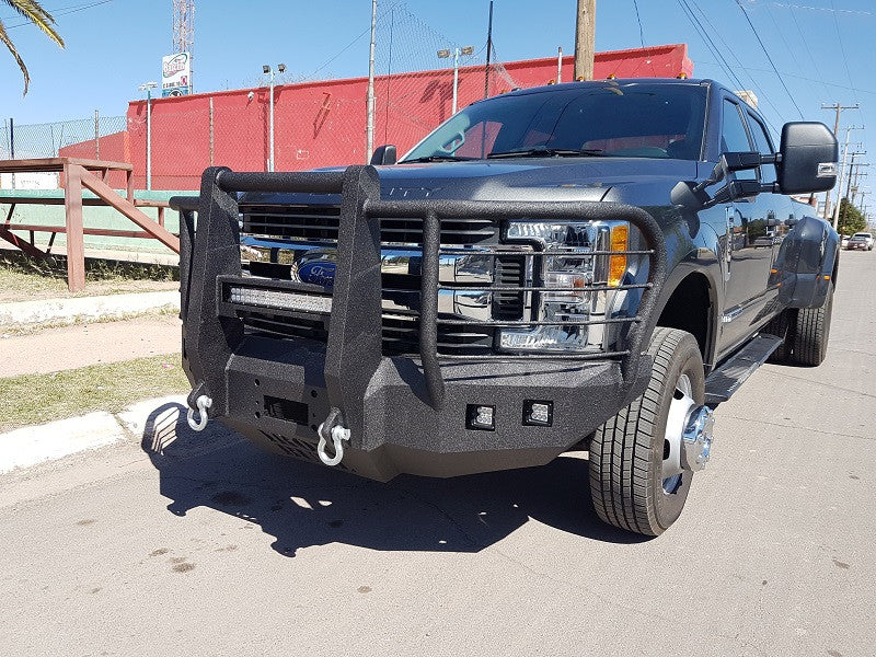 2017-2023 Ford F-450/550 Front Base Bumper With Fender Flare Adapters - Iron Bull Bumpers