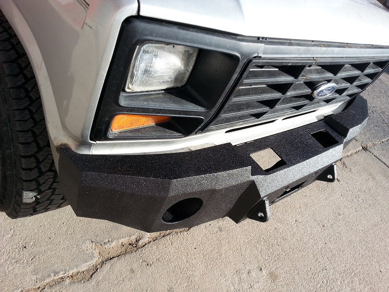 1980 1986 ford f 250 350 front base bumper iron bull bumpers rh ironbullbumpers com F250 Custom Front Bumper F250 Custom Front Bumper