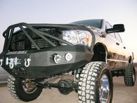 2006-2008 Dodge 1500 Front Base Bumper - Iron Bull Bumpers - FRONT IRON BUMPER - Metal bumper for heavy duty trucks Perfect for CITY/OFF-ROAD applications with Light Buckets and Winch Mount included