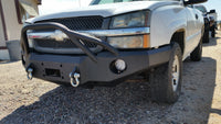 2003-2007 Chevrolet 1500 Front Base Bumper - Iron Bull Bumpers - FRONT IRON BUMPER - Metal bumper for heavy duty trucks Perfect for CITY/OFF-ROAD applications with Light Buckets and Winch Mount included