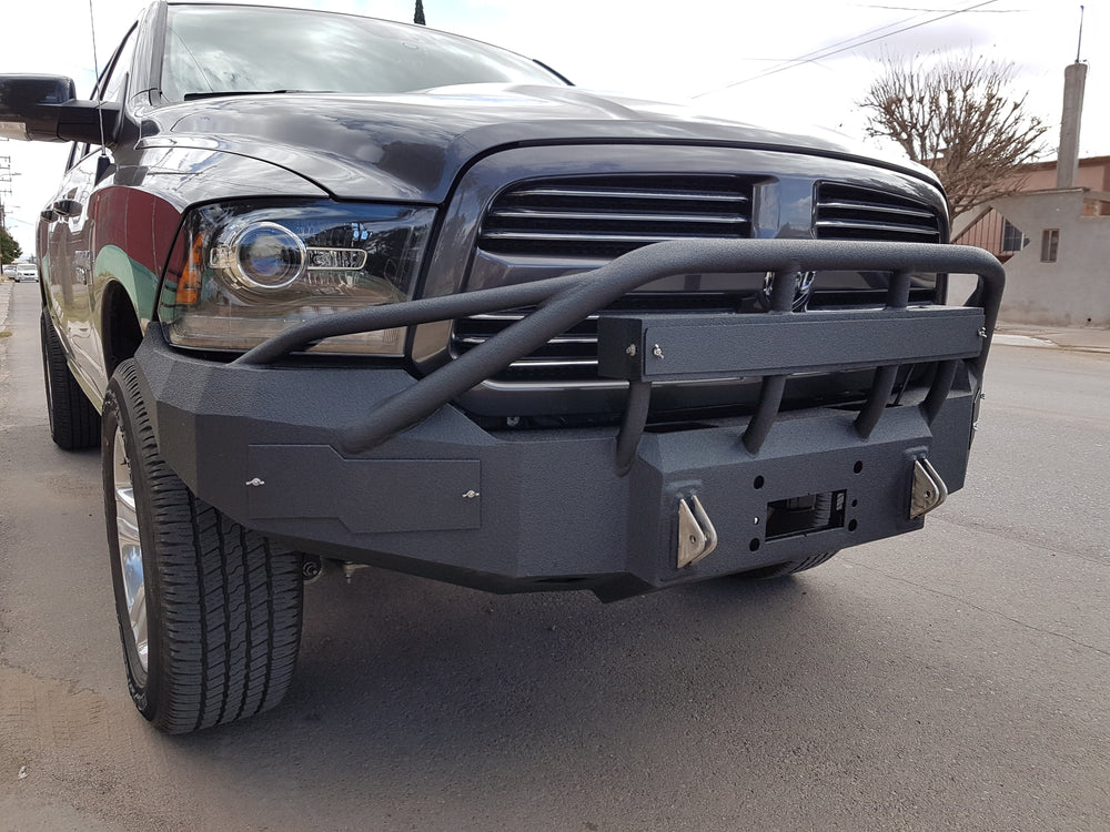 2013-2018 Dodge 1500/Sport Front Base Bumper With Sensor Holes - Iron Bull Bumpers
