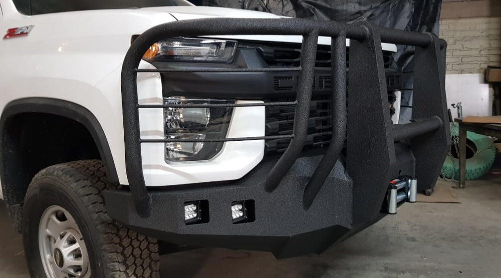 2020-2024 Chevrolet 2500/3500 Front Base Bumper With Sensor Holes
