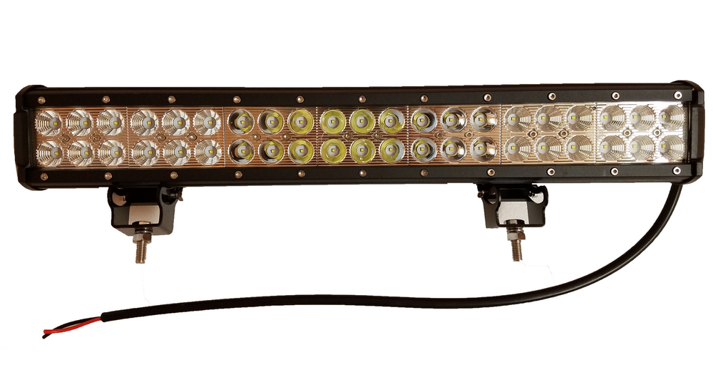 ACCESSORY 12 & 20 Inch Straight LED Light Bar - Iron Bull Bumpers - ACCESSORY - Metal bumper for heavy duty trucks Perfect for CITY/OFF-ROAD applications with Light Buckets and Winch Mount included