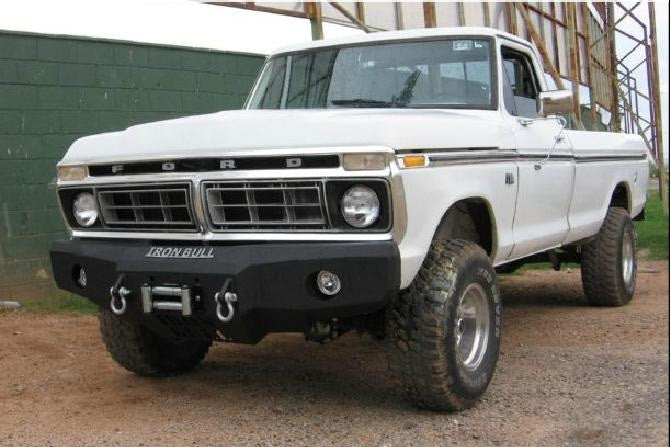 1973-1979 ford f-150 front base bumper – iron bull bumpers