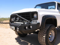 1973-1980 Chevrolet 1500 Front Base Bumper - Iron Bull Bumpers - FRONT IRON BUMPER - Metal bumper for heavy duty trucks Perfect for CITY/OFF-ROAD applications with Light Buckets and Winch Mount included