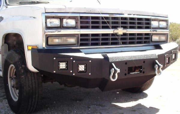 1981-1987 Chevrolet 2500/3500 Front Base Bumper - Iron Bull Bumpers