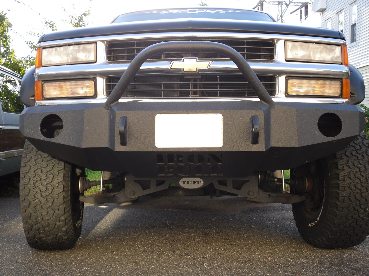All Chevy 97 chevy 2500 : 1988-1999 Chevrolet 2500/3500 Front Base Bumper – Iron Bull Bumpers