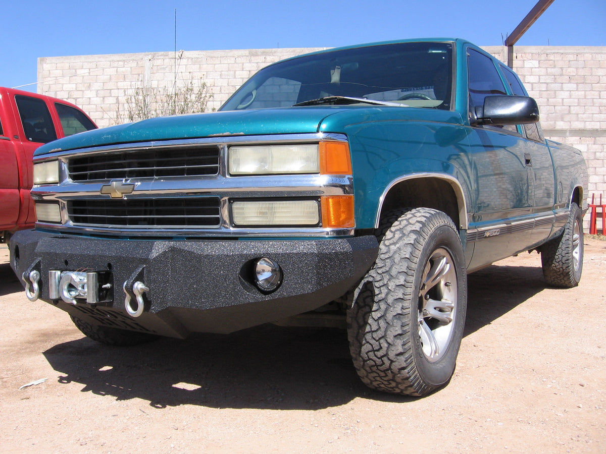 All Chevy 98 chevy bumper : 1988-1998 Chevrolet 1500 Front Base Bumper – Iron Bull Bumpers