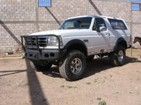 1992-1996 Ford Bronco Front Base Bumper - Iron Bull Bumpers - FRONT IRON BUMPER - Metal bumper for heavy duty trucks Perfect for CITY/OFF-ROAD applications with Light Buckets and Winch Mount included