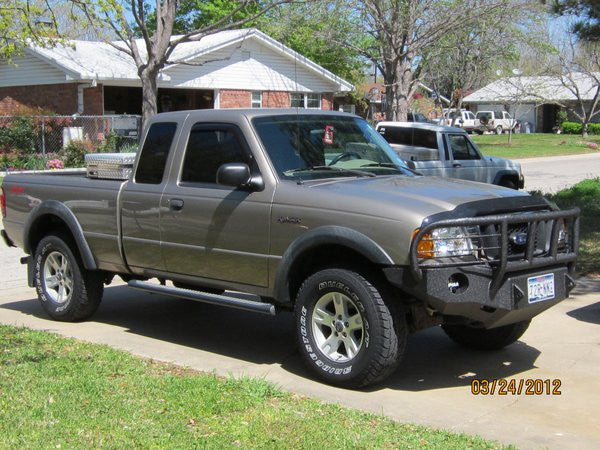 1993 1997 Ford Ranger Front Base Bumper Iron Bull Bumpers