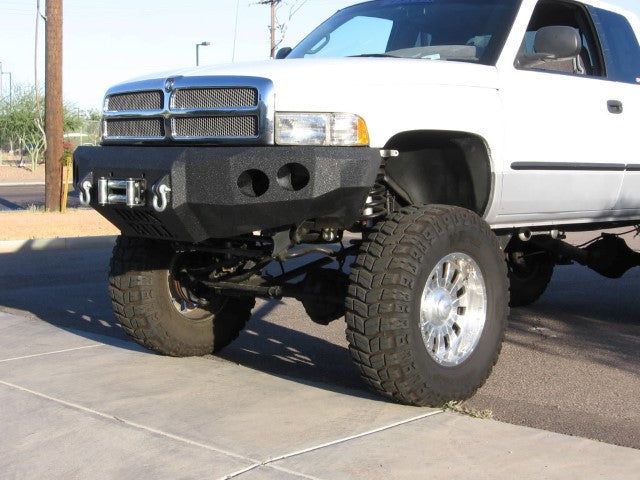 1994-2002 Dodge 2500/3500 Front Base Bumper - Iron Bull Bumpers