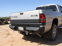 1994-2001 Dodge 1500 Rear Base Bumper - Iron Bull Bumpers - REAR IRON BUMPER - Metal bumper for heavy duty trucks Perfect for CITY/OFF-ROAD applications with Light Buckets and Winch Mount included