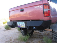 1995-2004 Toyota Tacoma Rear Base Bumper - Iron Bull Bumpers - REAR IRON BUMPER - Metal bumper for heavy duty trucks Perfect for CITY/OFF-ROAD applications with Light Buckets and Winch Mount included