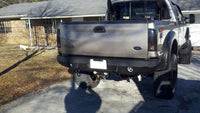1999-2016 Ford F-450/550 Rear Base Bumper With Sensor Holes