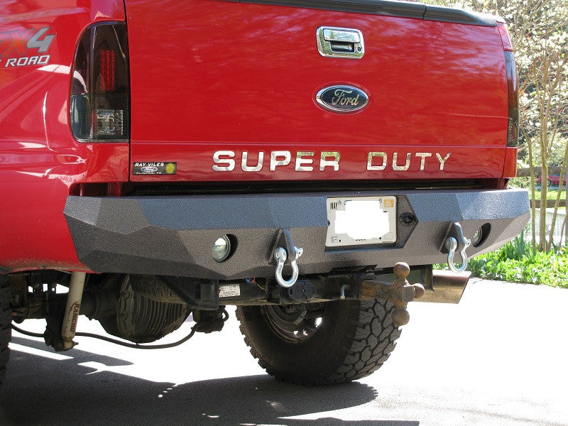 1999-2016 Ford F-250/350 Rear Base Bumper Without Sensor Holes