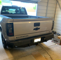 2014-2018 Chevrolet 1500 Rear Base Bumper Without Sensor Holes