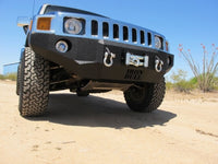 2005-2010 Hummer H3/H3T Front Base Bumper - Iron Bull Bumpers - FRONT IRON BUMPER - Metal bumper for heavy duty trucks Perfect for CITY/OFF-ROAD applications with Light Buckets and Winch Mount included