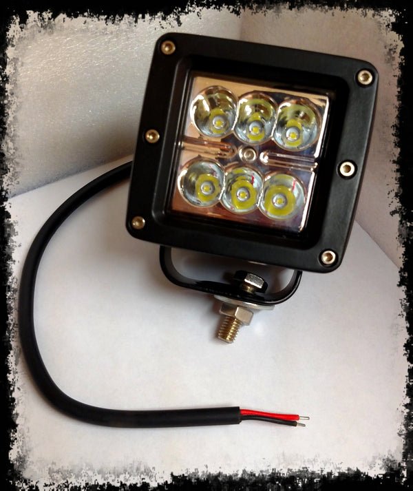ACCESSORY 3X3 Square Flood LED Light - Iron Bull Bumpers
