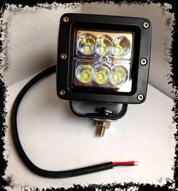 ACCESSORY 3X3 Square Spot LED Light - Iron Bull Bumpers