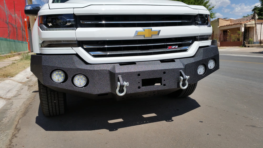 ACCESSORY 4 Inch Round LED Light - Iron Bull Bumpers - ACCESSORY - Metal bumper for heavy duty trucks Perfect for CITY/OFF-ROAD applications with Light Buckets and Winch Mount included