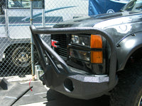1988-2000 GMC 2500/3500 Front Base Bumper - Iron Bull Bumpers - FRONT IRON BUMPER - Metal bumper for heavy duty trucks Perfect for CITY/OFF-ROAD applications with Light Buckets and Winch Mount included