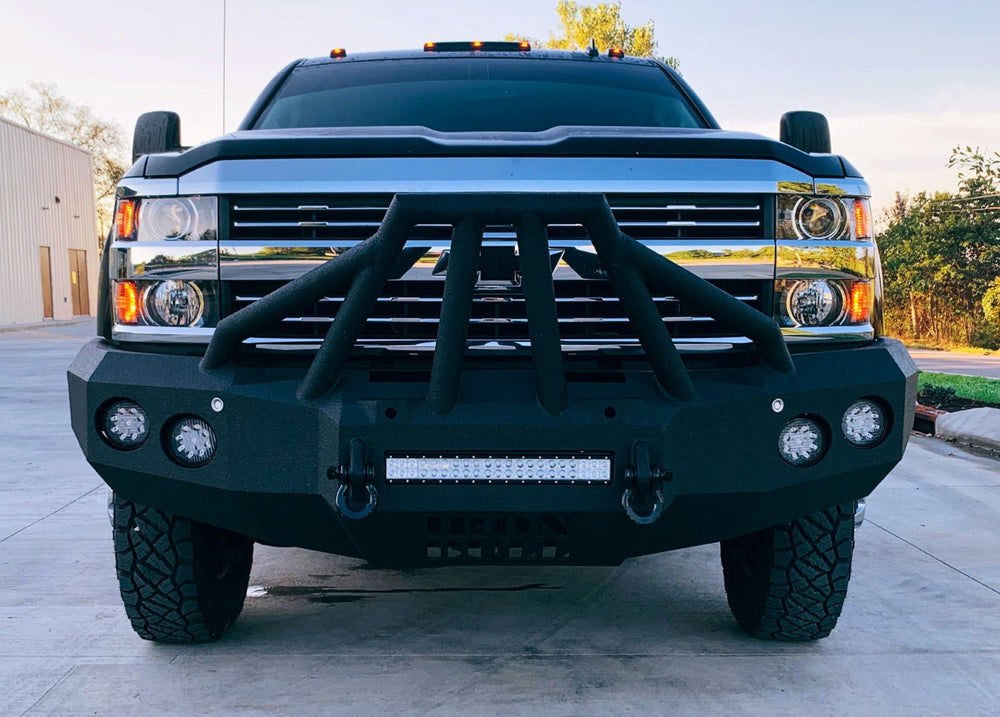 2015-2019 Chevrolet 2500/3500 Front Base Bumper With Sensor Holes