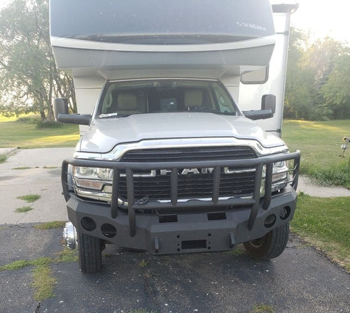 2019-2022 Dodge 4500/5500 Front Base Bumper With Sensor Holes and Fender Flare Adapters