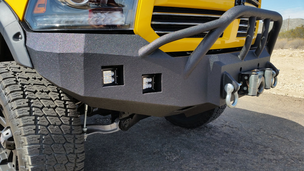 ACCESSORY 3X3 Square Flood LED Light - Iron Bull Bumpers - ACCESSORY - Metal bumper for heavy duty trucks Perfect for CITY/OFF-ROAD applications with Light Buckets and Winch Mount included