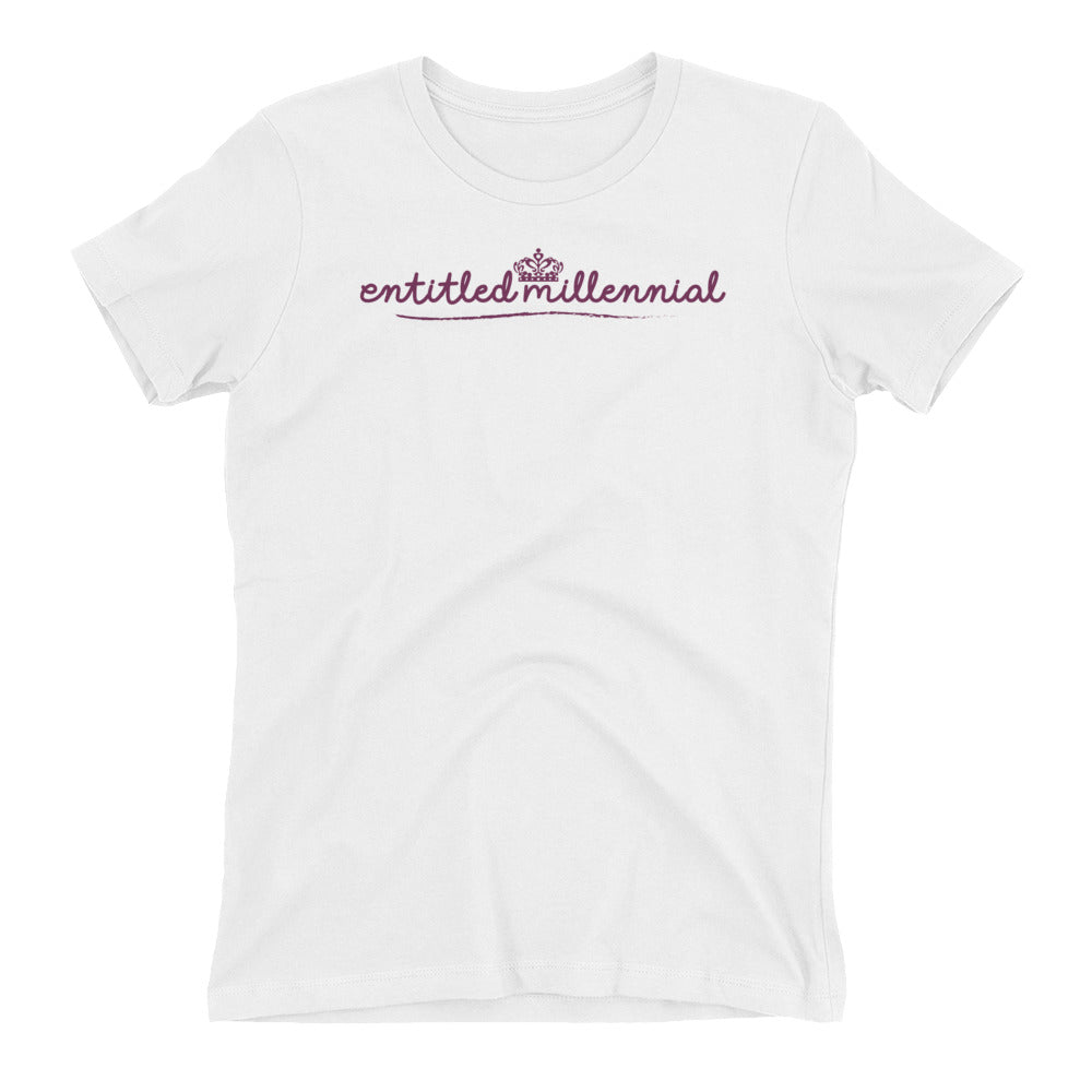 Entitled Millennial Full Colour Logo - Short Sleeve Women's T-shirt