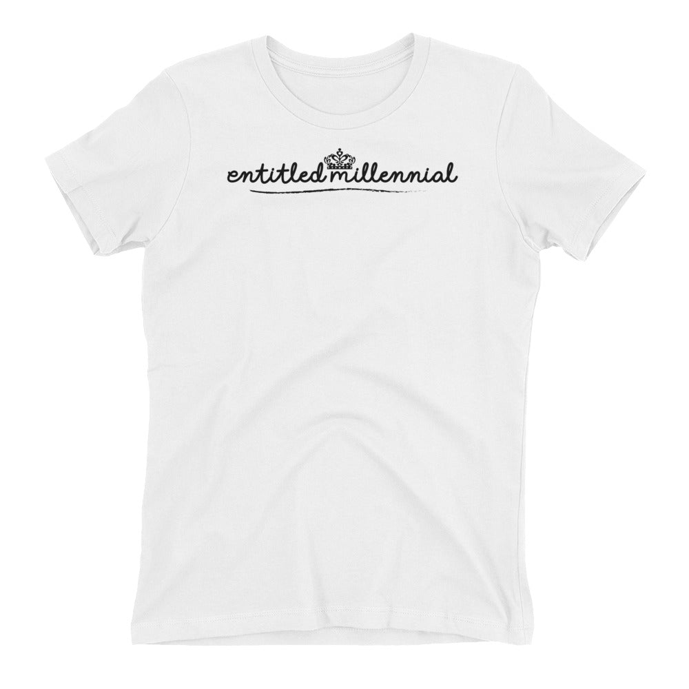Entitled Millennial - Short Sleeve Women's T-shirt - Light Tees