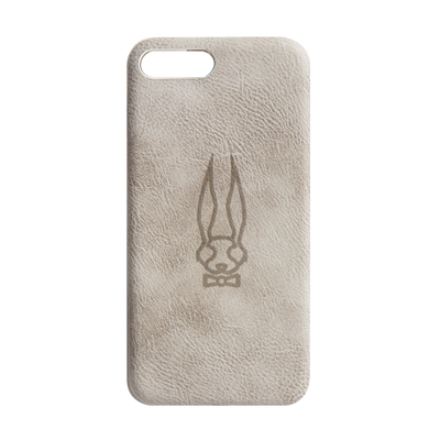 Leather Embossed White Phone Case