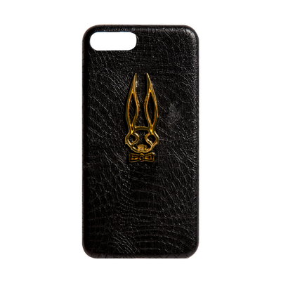 24k Alligator Noir Luxury Phone Case