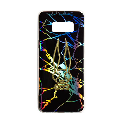 Holographic Marble Black Phone Case