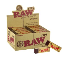 Raw® Natural Unrefined Tips (50 tips per pack)