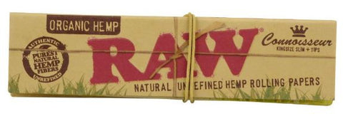 Raw® Organic Hemp Connoisseur Kingsize Rolling Papers