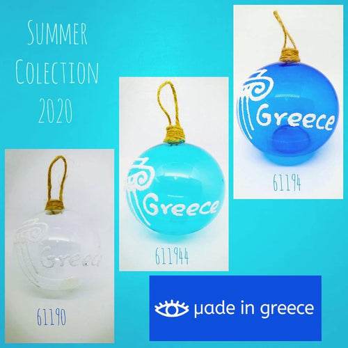 Glass Baubles Greece IN STOCK NOW