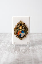 Load image into Gallery viewer, Thassos Marble  Icon with Gold Mirror JUST ARRIVED