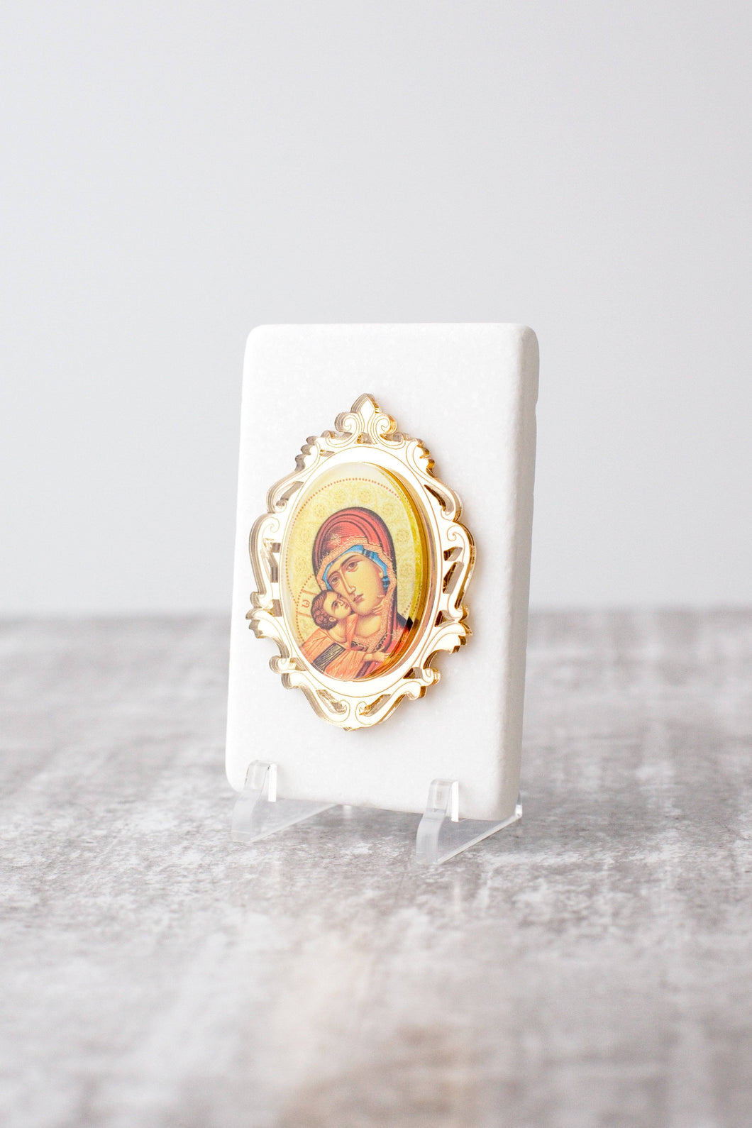 Thassos Marble  Icon with Gold Mirror JUST ARRIVED