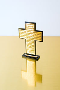 Cross Lords Prayer Plexiglass